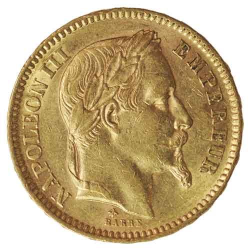 Francs Napoleon Iii Französische Goldmünze Goldankauf Goldpreis
